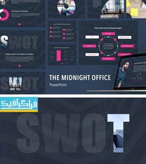 دانلود قالب پاورپوینت اداری و تجاری Midnight Office